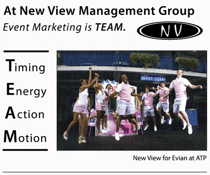 Event Marketing New View For Evian at ATP